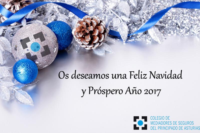 Feliz Navidad desde el Colegio de Mediadores de Seguros de Asturias