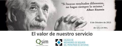 Colegio de Mediadores de Seguros Asturias - Jornada QSIM - 8 de octubre -  Colegio de Mediadores de Seguros del Principado  Colegio de Mediadores de Seguros del Principado