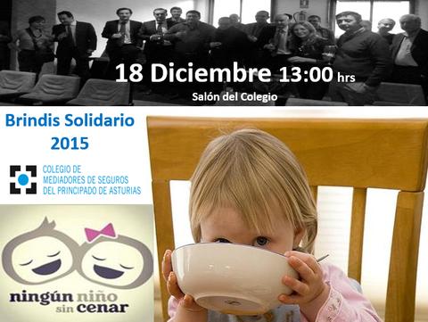 Colegio de Mediadores de Seguros Asturias - Brindis solidario 2015 ningún niño sin cenar -  Colegio de Mediadores de Seguros del Principado  Colegio de Mediadores de Seguros del Principado
