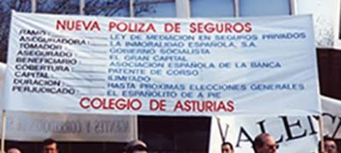 Colegio de Mediadores de Seguros Asturias - Un recorrido por nuestra historia, 1990 -  Colegio de Mediadores de Seguros del Principado  Colegio de Mediadores de Seguros del Principado