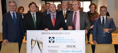 Colegio de Mediadores de Seguros Asturias - Un éxito de recaudación en el Brindis Solidario por Axuda a Burundi -  Colegio de Mediadores de Seguros del Principado  Colegio de Mediadores de Seguros del Principado