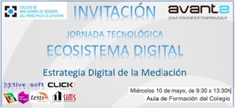 Colegio de Mediadores de Seguros Asturias - Éxito Jornada  ECOSISTEMA DIGITAL -  Colegio de Mediadores de Seguros del Principado  Colegio de Mediadores de Seguros del Principado